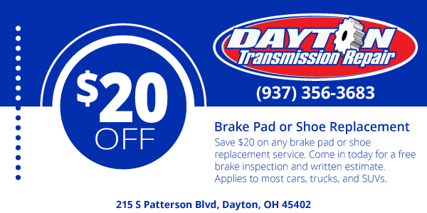 Brake Pad or Shoe Replacement Coupon