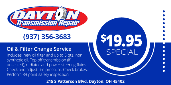 Oil and Filter Change Service Coupon
